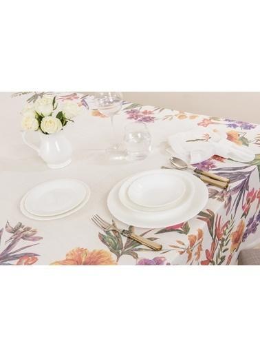 Gül Güler Baskılı Masa Örtüsü Gardenia 143074040408 Renkli